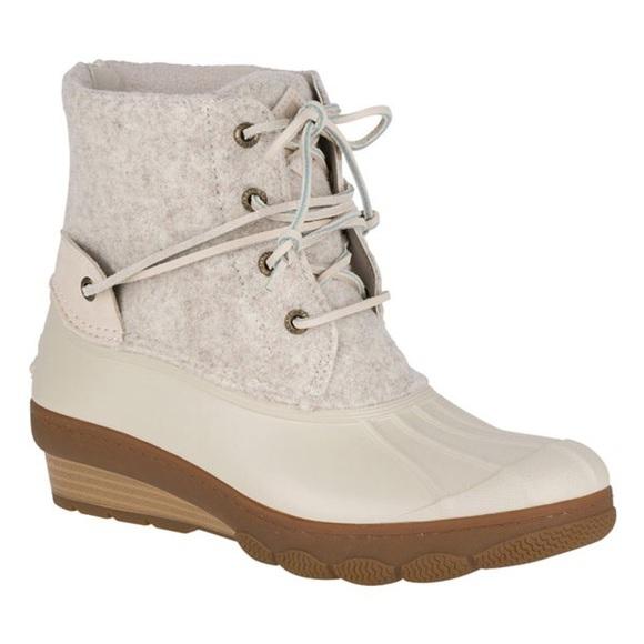 cdf958552700 Sperry Saltwater Wedge Tide Wool Duck bootie. M 5aa8be2b077b97cca51fbc97